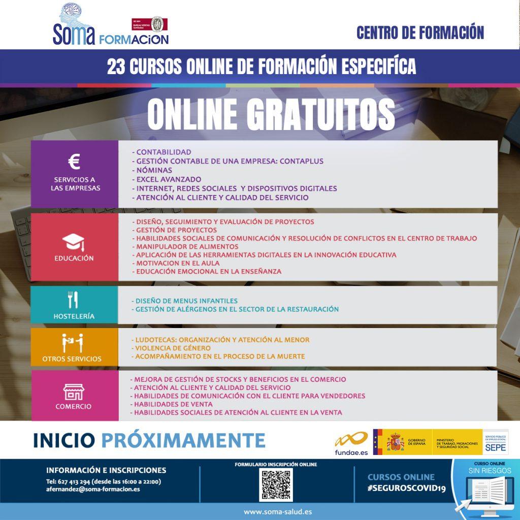 23 Cursos Online de formación especifica gratuitos